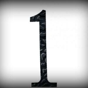 Artikel-Nr. 17-211 Hausnummer 1, elegante Zahl in antikem Design