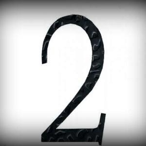 Artikel-Nr. 17-212 Hausnummer 2, elegante Zahl in antikem Design