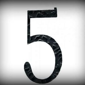 Artikel-Nr. 17-215 Hausnummer 5, elegante Zahl in antikem Design