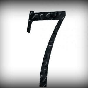 Artikel-Nr. 17-217 Hausnummer 7, elegante Zahl in antikem Design