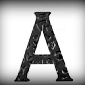 Artikel-Nr. 17-260 Buchstabe A, Schmiedeeisen, antikes Design