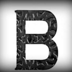 Artikel-Nr. 17-261 Buchstabe B, Schmiedeeisen, antikes Design