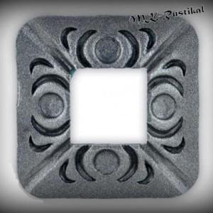 Artikel-Nr. 16-066 Wandrosette 76×76 mm, 30×30 mm