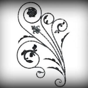 Artikel-Nr. 10-038-2 Zierelement 1080×600 mm Schmiedeeisen