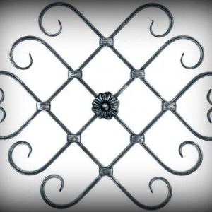 Artikel-Nr. 10-045 Zierornament 450×450 mm Schmiedeeisen