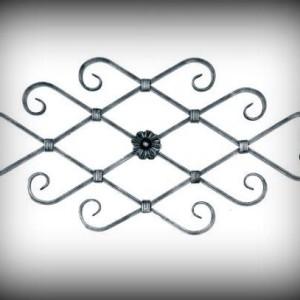 Artikel-Nr. 10-046 Zierornament 700×350 mm Schmiedeeisen
