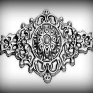 Artikel-Nr. 17-052 Zierornament 205×400 mm