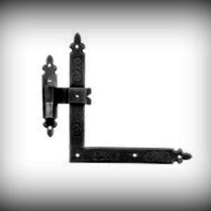 Artikel-Nr. 18-096 Winkelband 250 mm mit Kegel Schmiedeeisen