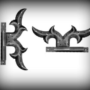 Artikel- Nr. 18-602 Scharnier 145×60 mm Schmiedeeisen