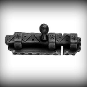 Artikel- Nr. 18-897 Riegel antik 105×40 mm Schmiedeeisen