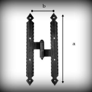Artikel- Nr. 24-1012 Kreuzband 200×60 mm mit Kegel (rechts) Schmiedeeisen