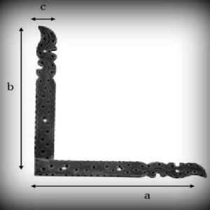 Artikel- Nr. 24-5711 Scheinband 200×130 mm (linke Seite) Schmiedeeisen