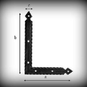 Artikel- Nr. 24-9161 Scheinband 180×130 mm (linke Seite) Schmiedeeisen
