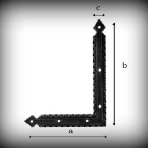Artikel- Nr. 24-9162 Scheinband 180×130 mm (rechte Seite) Schmiedeeisen