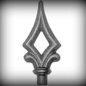 Artikel-Nr. 12-153 Zaunspitze 100×45 mm, Ø 12 mm