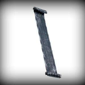 Artikel-Nr. 19-190 Handlauf 40×4 mm gehämmert, 300 mm