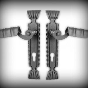 Artikel-Nr. 24-302 Türklinkengarnitur 260 x 56 mm x 3 mm, PZ 85 mm