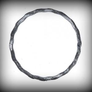 Artikel-Nr. 08-025 Ring gehämmert, Zierring 12×6 mm, Ø 100 mm