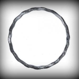 Artikel-Nr. 08-026 Ring gehämmert, Zierring 12×6 mm, Ø 125 mm
