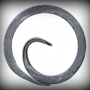 Artikel-Nr. 08-055 Ring, Zierring 12×12 mm, Ø 100 mm glatt mit Schnörkel