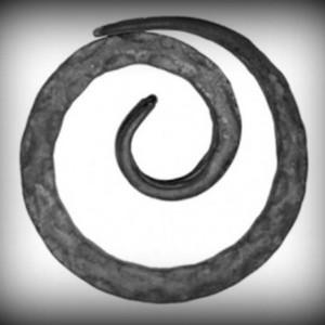 Artikel-Nr. 08-057-1 Zierring gehämmert, 12×12 mm, Ø 120 mm