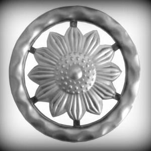 Artikel-Nr. 08-073 Ring gehämmert, Zierring 12×12 mm, Ø 120 mm