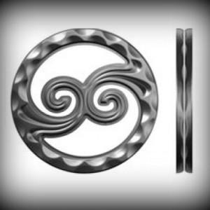 Artikel-Nr. 08-075 Ring gehämmert, Zierring 12×12 mm, Ø 117 mm