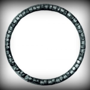 Artikel-Nr. 08-080 Ring gehämmert, Zierring 12×6 mm, Ø 80 mm