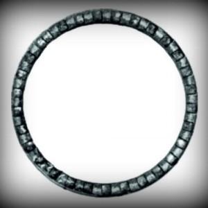 Artikel-Nr. 08-081 Ring gehämmert, Zierring 12×6 mm, Ø 100 mm