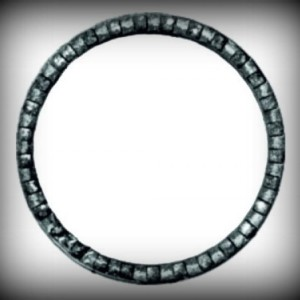 Artikel-Nr. 08-083 Ring gehämmert, Zierring 12×6 mm, Ø 120 mm