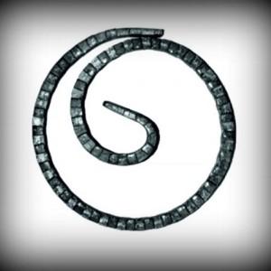 Artikel-Nr. 08-090 Ring gehämmert, Zierring 12×6 mm, Ø 100 mm