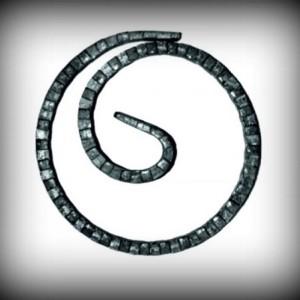 Artikel-Nr. 08-093 Ring gehämmert, Zierring 12×6 mm, Ø 120 mm