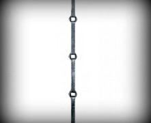 ARTIKEL-NR. 20-267 LOCHSTAB 14×14 MM, Lochmaß 14×14 mm,  Länge 2000 MM