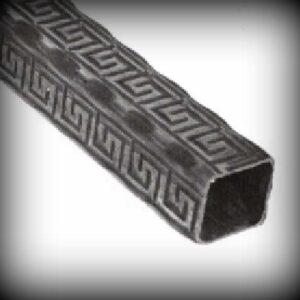 Artikel-Nr. 21-730 Profilrohr 30×30 mm gehämmert mit Muster Länge 1000 bis 2000 mm