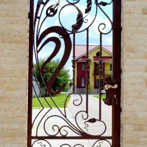 Gartentor 900 x 1900 mm, handgeschmiedet 30-002