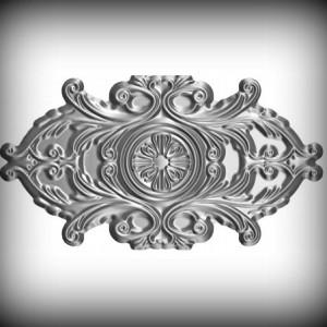 Artikel-Nr. 17-058 Ornament 180×330 mm Schmiedeeisen