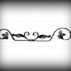 Artikel-Nr. 10-150-1 Zierornament Gehämmert 110×625 mm