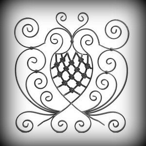 Artikel-Nr. 10-036-3 Zierornament 850×790 mm Schmiedeeisen