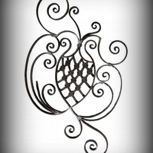 Artikel-Nr. 10-036-4 Zierornament 1115×710 mm Schmiedeeisen