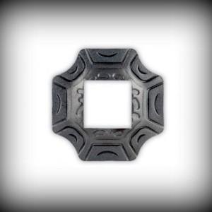 Artikel-Nr. 16-072 Wandrosette 100×100 mm, 40×40 mm