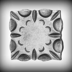 Artikel-Nr. 16-091 Wandrosette 90×90 mm Schmiedeeisen