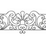 Artikel-Nr. 11-125 Zaunelement 1900×800 mm, Profil 14×14 mm