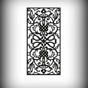 Artikel-Nr. 27-002 Motivwand, Sichtschutz, Laser cut 2000×1000 mm