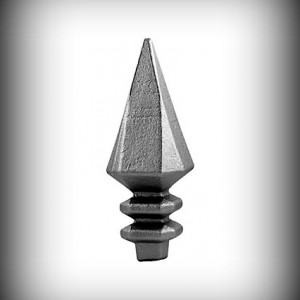 Artikel-Nr. 12-202 Zaunspitze 187×68 mm, 23×23 mm