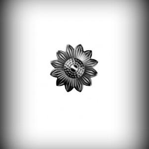 Artikel-Nr. 17-504 Zierornament Ø 50 mm Schmiedeeisen