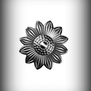 Artikel-Nr. 17-505 Zierornament Ø 75 mm Schmiedeeisen