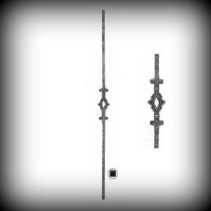 ARTIKEL-NR. 02-090 STAB 900 MM, 12×12 MM