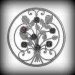 ARTIKEL-NR. 10-138 ZIERORNAMENT 560×560 MM SCHMIEDEEISEN